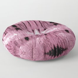 Mauve Moire' Shibori Floor Pillow