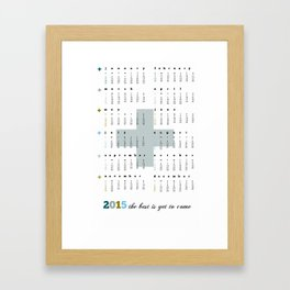 Calendar 2015 Cross Framed Art Print