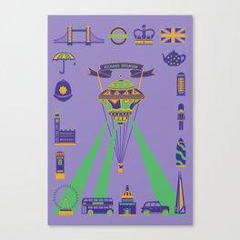 UFO Hot Air Balloon Canvas Print