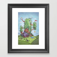 Ode to Finn and Jake Framed Art Print