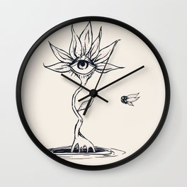 Flower and Bee Wall Clock