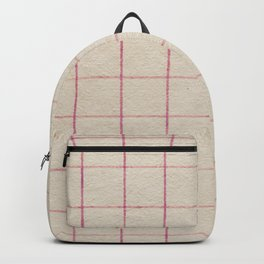 Geometric pink white vintage stripes pattern Backpack