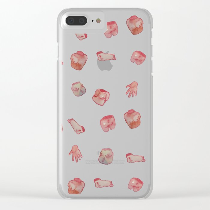Body parts new water color Clear iPhone Case