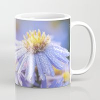 biology Mugs featuring Blue Aster in LOVE I by UtArt