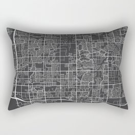 Chandler Map, USA - Gray Rectangular Pillow