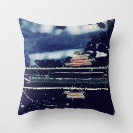 Denim love Throw Pillow