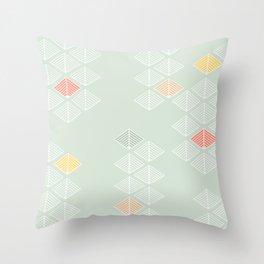 Japanese Pattern: Spring Throw Pillow