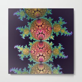 Amazing patterns in orbs and dragon spirals Metal Print