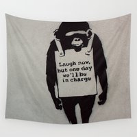 banksy Wall Tapestries featuring Banksy  by Ashley Griswold Photography
