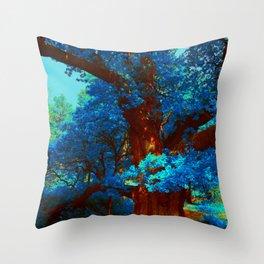 birnam wood in technicolor Throw Pillow