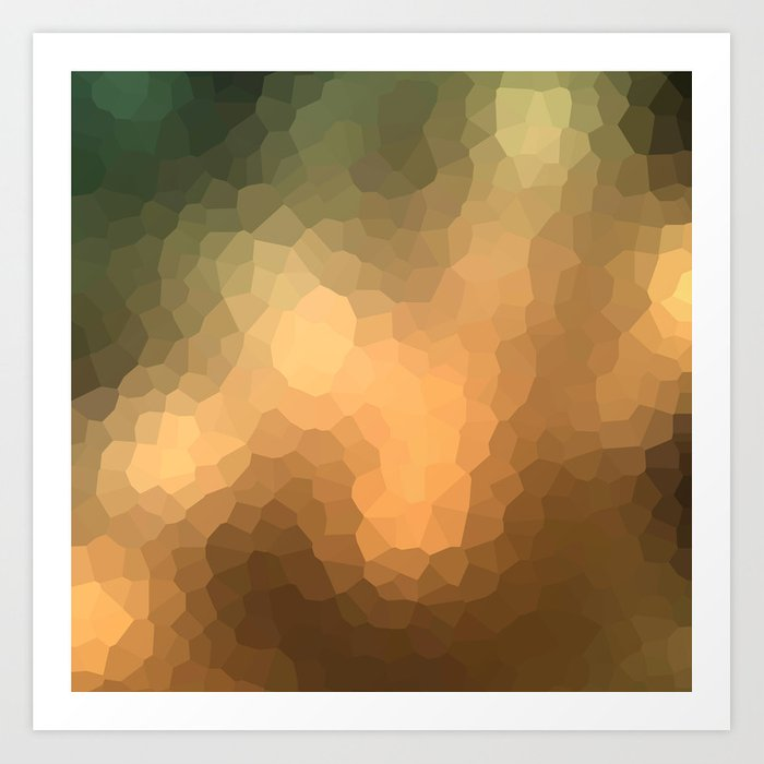 """Abstract pattern """"Sunny day """". Art Print"""