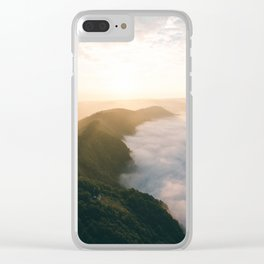 Sunrise over Mosel river Clear iPhone Case