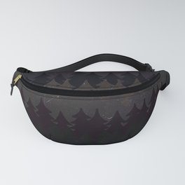 The secret forest at night - Abstract dark tree pattern Fanny Pack