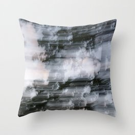 Abstract trees photography slow shutter Throw Pillow
