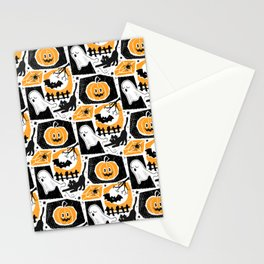 Beware of the Cat -Pattern Stationery Cards