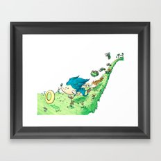 Starring Sonic and Miles 'Tails' Prower (Alt.) Framed Art Print