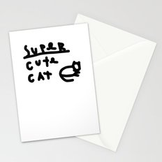 super cute cat Stationery Cards