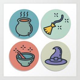 Magic Icons Art Print