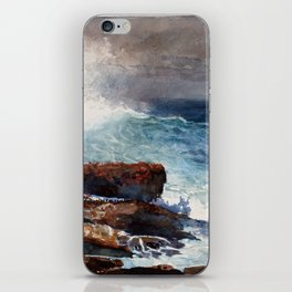 Winslow Homer Incoming Tide, Scarboro Maine iPhone Skin