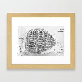 The Incredible World Of False History Cross Sections Pt.1 The Cloud Framed Art Print