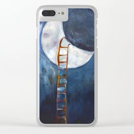 If I Could Rest on the Moon Clear iPhone Case