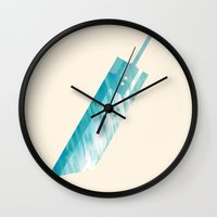 final fantasy Wall Clocks featuring Final Fantasy VII by GIOdesign