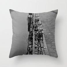 Sleeping bikes Throw Pillow