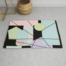 Mid Century Modern Abstract Rug