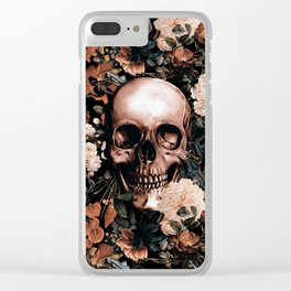 SKULL AND FLOWERS II Clear iPhone Case