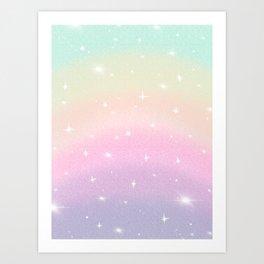Bubblegum Twilight Art Print