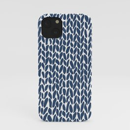 Hand Knit Zoom Navy iPhone Case