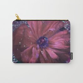 Smoky pink poppy in the dew Carry-All Pouch