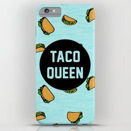 Taco Queen - blue iPhone Case