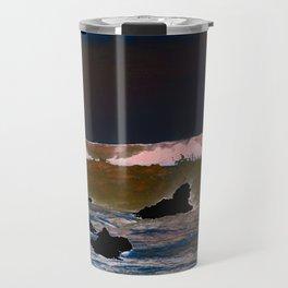 The Upside-Down State Beach Travel Mug