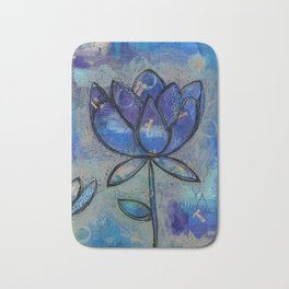 Abstract - Lotus flower - Intuitive Bath Mat