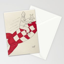 Tintin and Snowy Stationery Cards