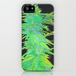 Hemp harvest art number 4 iPhone Case