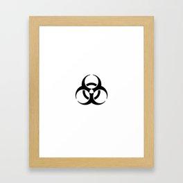 International Biological Hazard Symbol Black Framed Art Print
