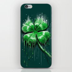 Four Leaf Clover Melting Luck iPhone Skin