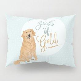 Heart of Gold // Golden Retriever Pillow Sham