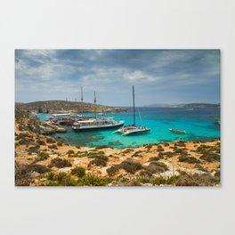 The Blue Lagoon, Comino, Malta Canvas Print
