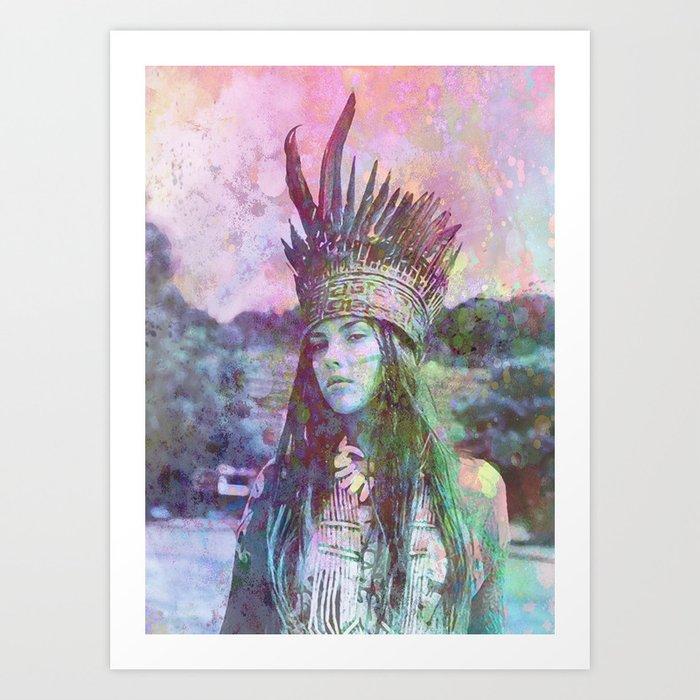 ind.girl Art Print