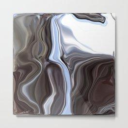 Metallic Chrome Metal Print