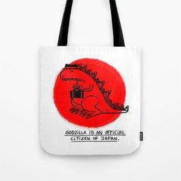 Godzilla Fun Fact Tote Bag