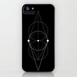 Mixed geometry black iPhone Case