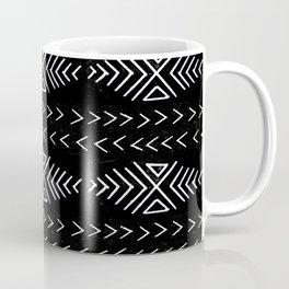 mudcloth 4 minimal textured black and white pattern home decor minimalist Coffee Mug