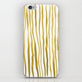 Vertical watercolor lines - yellow iPhone Skin