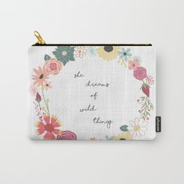 She Dreams of Wild Things Carry-All Pouch