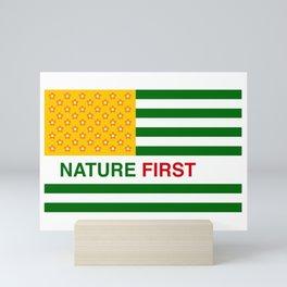 Nature First - Green Mini Art Print