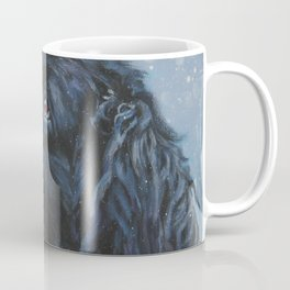 Newfoundland Dog Art Portrait from an original painting by L.A.Shepard Coffee Mug